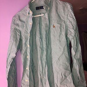 Ralph Lauren Men's Button Down Dress Shirt Long